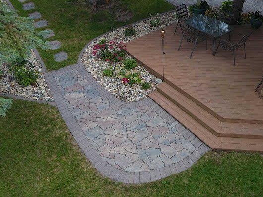 Irregularly Shaped Paver Puzzle Walkway | Oasis Landscapes | West Fargo ND