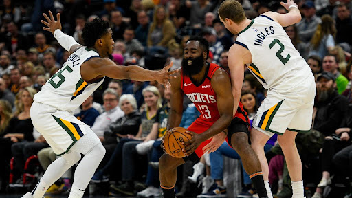 Avatar of Jazz defense no match for small-ball Rockets, James Harden scores 38 in win