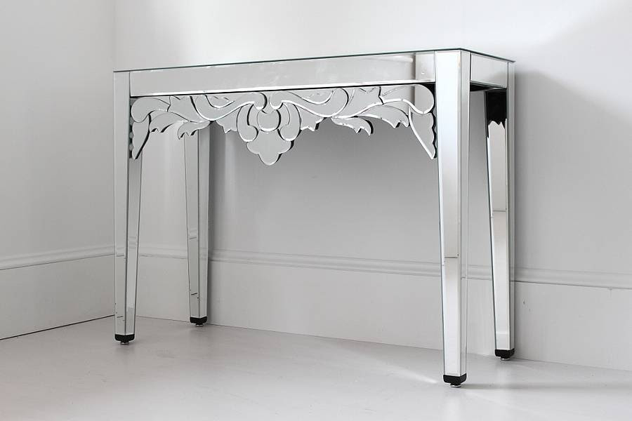 mirrored venetian console table by out there interiors ...