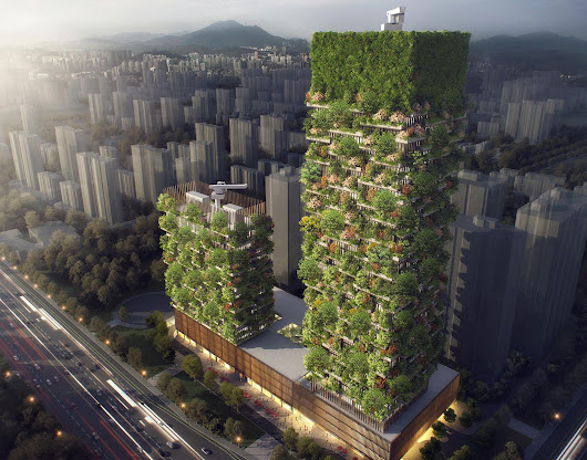 China Vertical Forest Bldg, Lower Pollution - Nanjing Green Towers