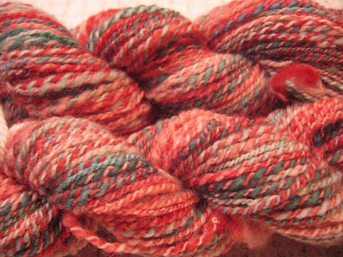 Santa's Coming handspun yarn