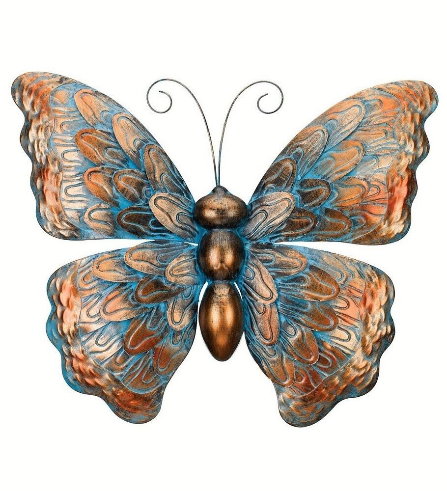 Copper Patina Butterfly Wall Art Decor Metal Hanging ...