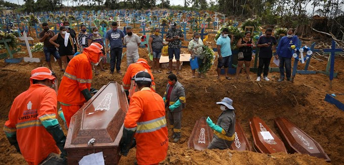 Brasil passa EUA em número de mortes diárias causadas pela Covid-19