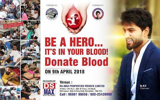 Blood Donation Camp on 9th Apr 2018 at DS-MAX Properties