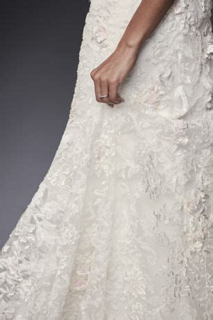 Strapless Lace Mermaid Dress with 3D Flowers   David's Bridal
