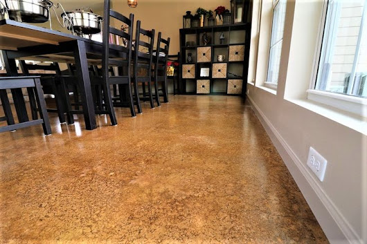 Transform plain concrete into something more decorative with concrete staining. We offer a wide range of colors that is perfect for… | Stained Concrete | Pinte…