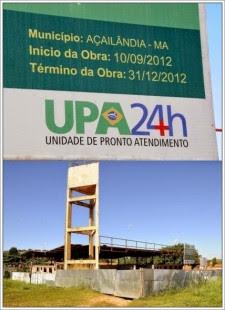 Obra iniciada em 10/09/2012 vive abandonada desde que prazo pra entrega foi descumprido. Mais de um milhão foi repassado ao Governo Municipal