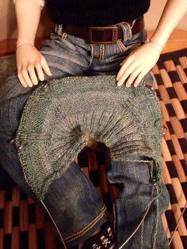 Cabled Minifee sweater in handspun