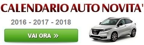 Calendario Auto Novità
