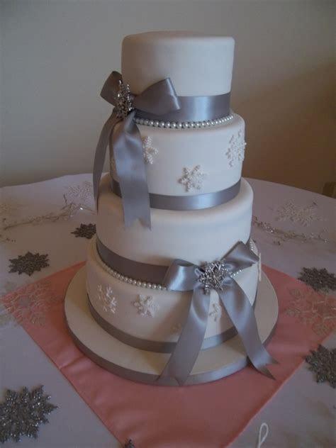 Snowflake Wedding Cake   CakeCentral.com