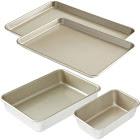 American Kitchen AK-004BW Bakeware Essentials Set, Nonstick, 4 Pcs.