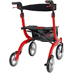 Drive Medical RTL10266-T Nitro Euro Style for Tall Height Rollator Walker, Red by VM Express