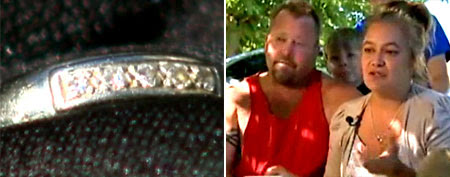 Steven and Shannon Callahan find a wedding ring in the used car they recently purchased. (KCRA)