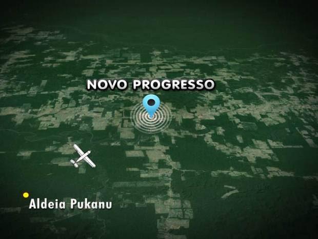 Avião bimotor seguia em direção a Aldeia Pukanu (Foto: Reprodução/TV Liberal)