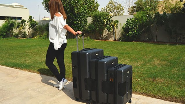 There is a huge sale on these arduous baggage suitcases that clip collectively
