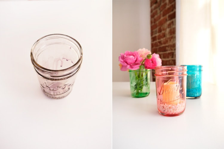DIY Colored Glass Mason Jars Freutcake 2 DIY Colored Glass Mason Jars