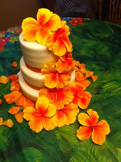 17 Best ideas about Hawaiian Wedding Cakes on Pinterest