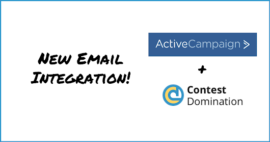 New ActiveCampaign Email Integration | ContestDomination