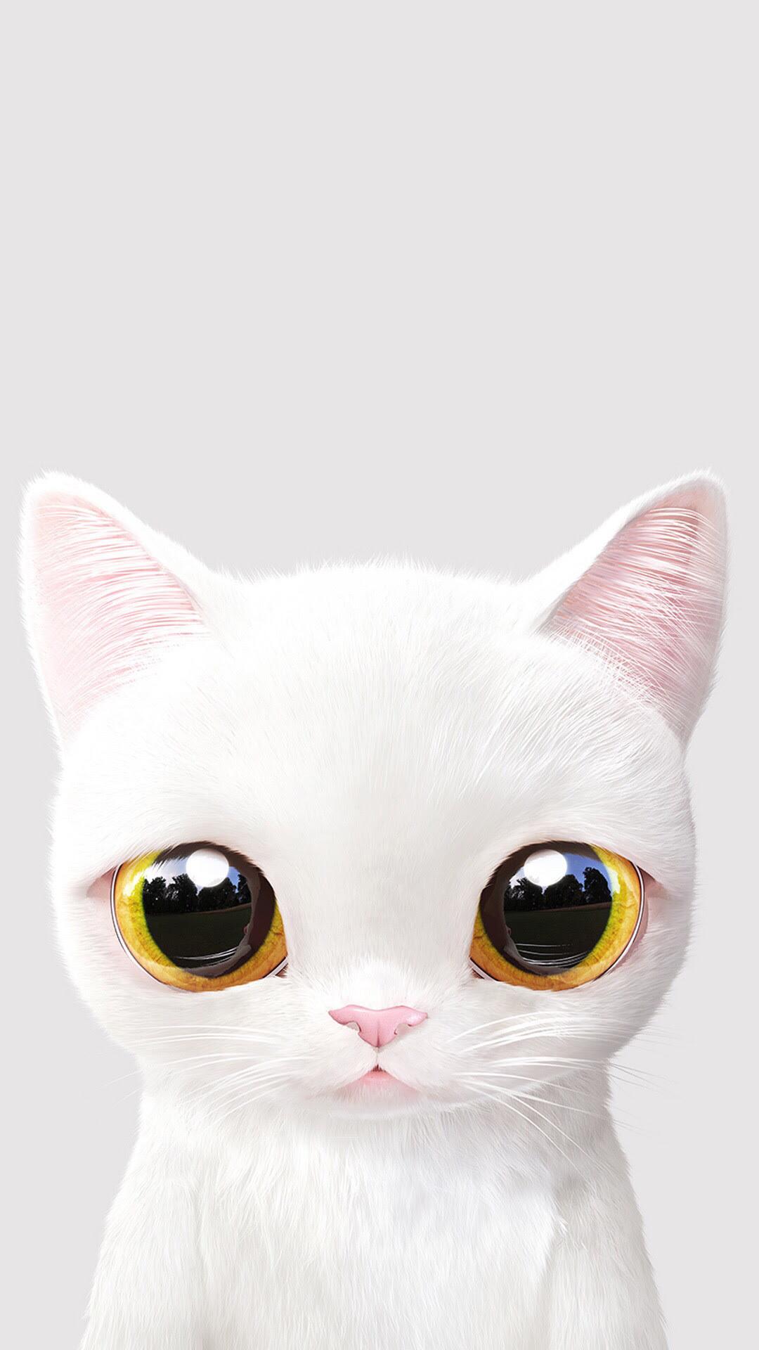Yellow Cat Cartoon Wallpaper