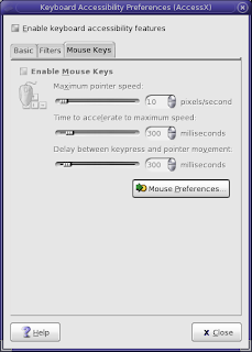 Accessibility : Keyboard : Mouse Keys