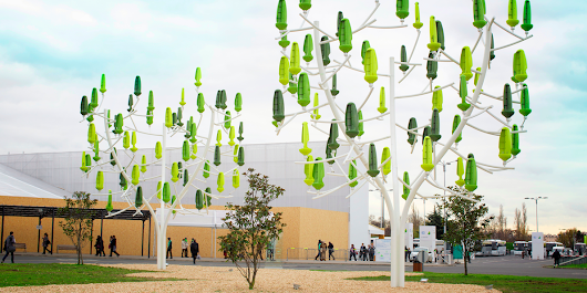 A new kind of fake tree has spinning leaves that can generate wind power for your house