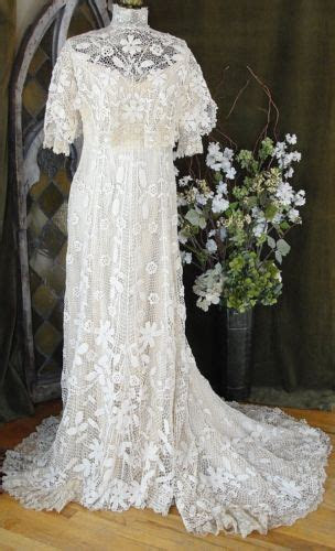 museum quality antique victorian irish lace wedding bridal