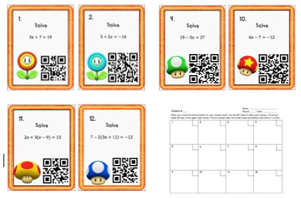 Finally! QR Codes & Task Cards