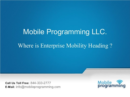 Where is Enterprise Mobility Heading ?