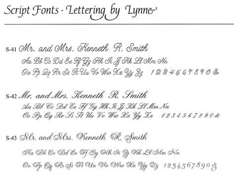 Lettering By Lynne   Available Fonts