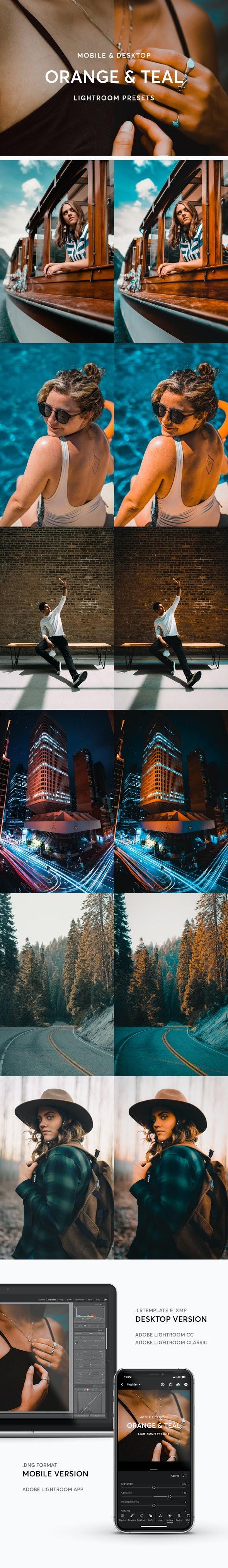 Graphicriver Orange & Teal Lightroom Presets 28339245