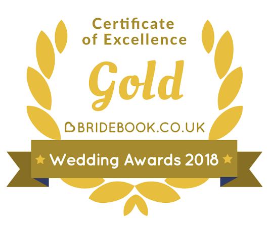 I won the Gold Bridebook Wedding Awards 2018 Badge of Excellence - Alpha Video