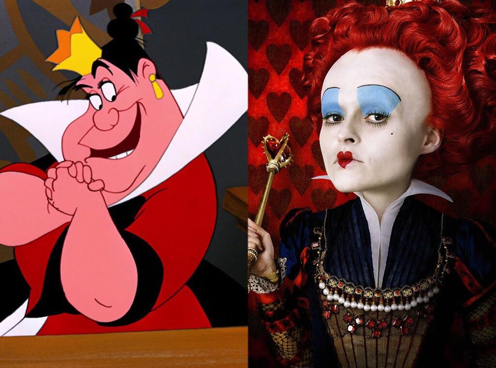 Red Queen, Alice in Wonderland, Animated Disney vs. Live Action Disney