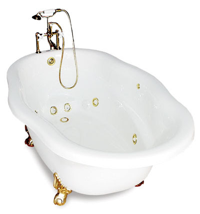 Clawfoot Tub with Whirlpool Jets - From The Bath Spot