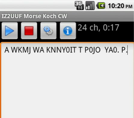 Training fast CW on Android (Koch method)