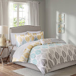 Buy Central Park Complete Comforter and Cotton Sheet Set at easyhomelinks Yellow / Full