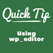 Quick Tip: Using wp_editor | Wptuts+