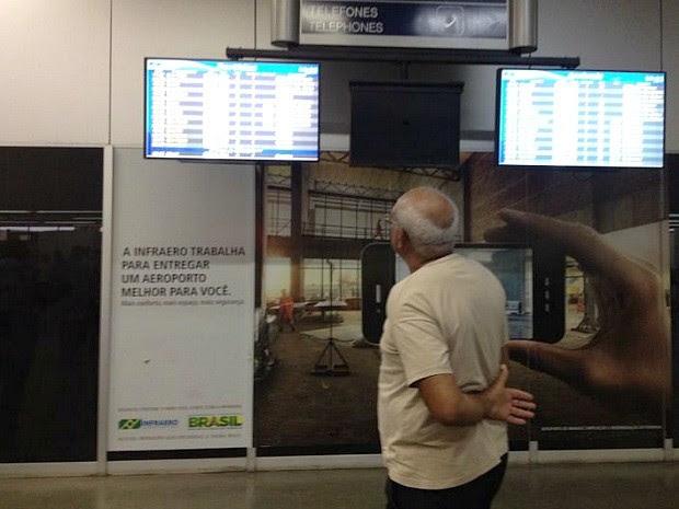 Situação já afeta 20 voos em Manaus (Foto: Jamile Alves/G1 AM)