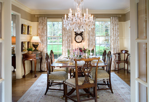Architectural details add elegance and sophistication to the NJ Dining Room traditional dining room
