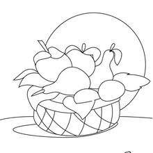 Coloriages Coloriage Dune Corbeille De Fruits Frhellokidscom