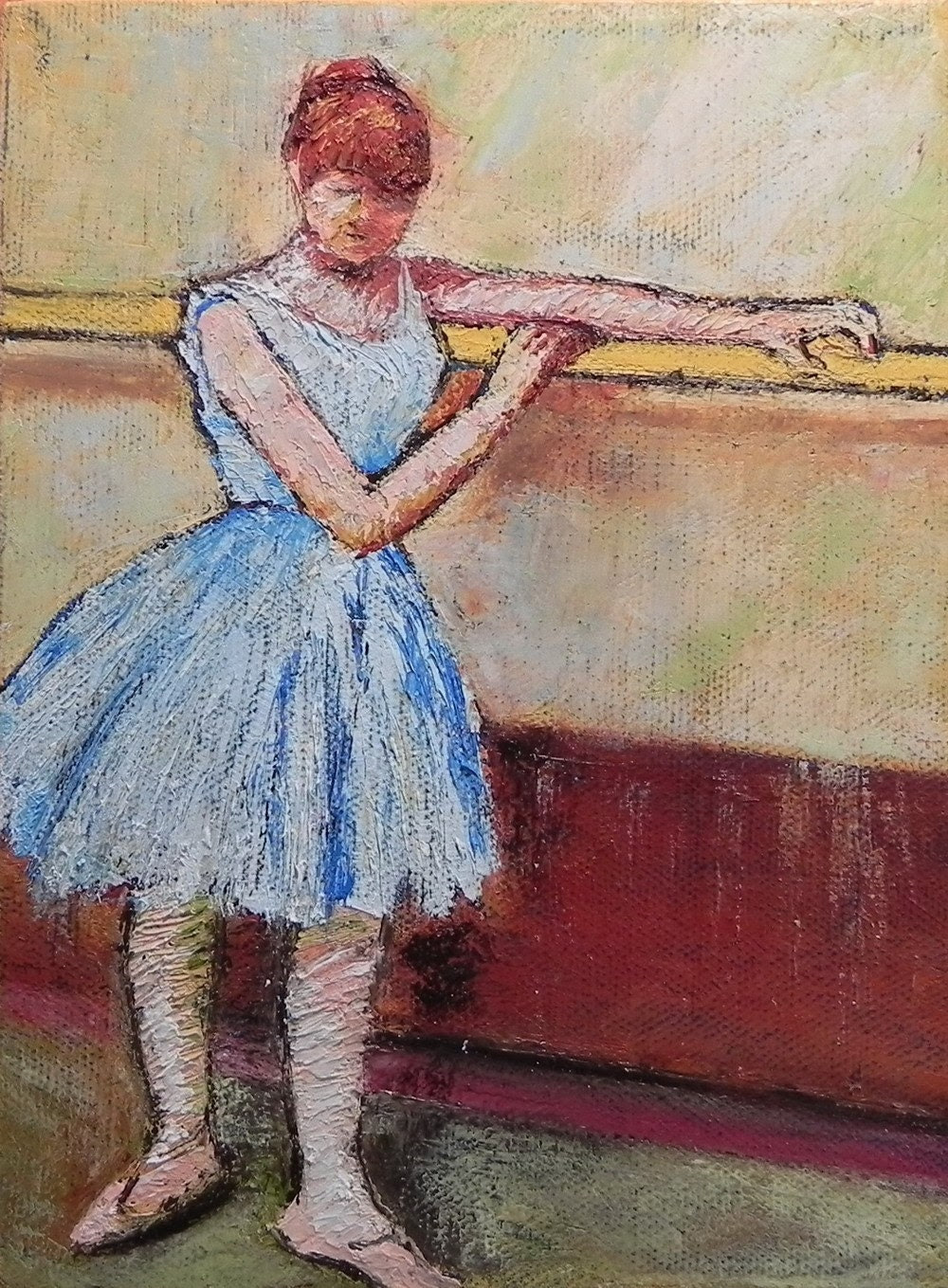 "After Degas, 6""x8"" oil on canvas"