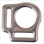"""3/4"""" Western Horse Tack Nickel Plated Malleable Iron Halter Square 2 Pcs."""