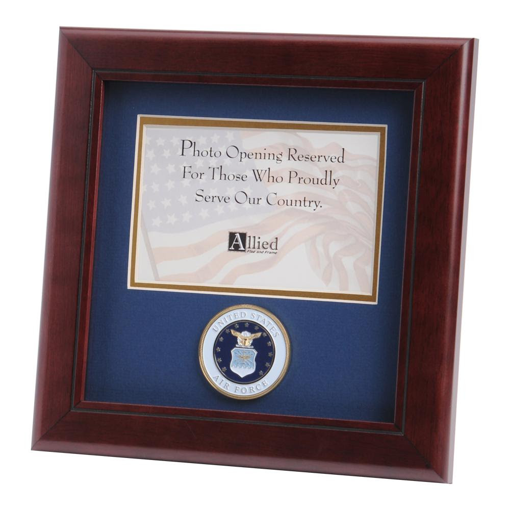 Us Air Force Medallion 4 Inch By 6 Inch Landscape Picture Frame