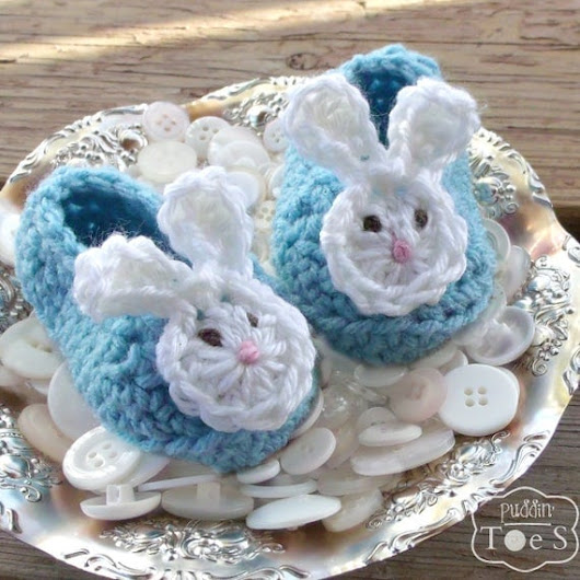 Blue Baby Bunny Slippers Easter Bunny Baby Shoes Baby Bunny