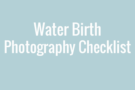 Hospital Bag Checklist for Water Birth