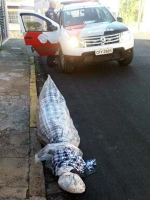 Corpo de idosa é encontrado no centro de Bragança Paulista (Foto: Jonas Fernandes/ Vanguarda Repórter)