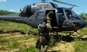 Helicóptero foi utilizado para localizar plantação