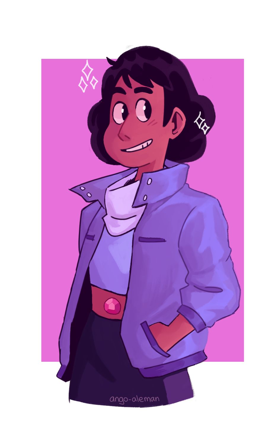 OKAY but stevonnie with short hair and steven's jacket???? i need it