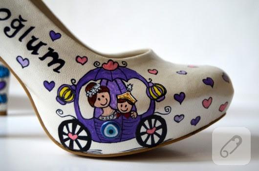 Sünnet Annesi Ayakkabısı Ayakkabı Boyama 10marifetorg