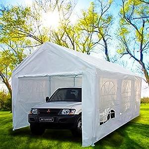 Amazon.com : Peaktop® 20'x10' Heavy Duty Portable Carport ...