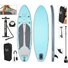 "Vilano Navigator 10' 6"" Inflatable SUP Stand Up Paddle Board Package, Aqua / Grey"